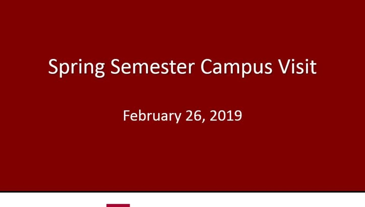 2019 Spring Semester Campus Visits