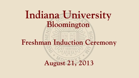 Thumbnail for entry 2013 Freshman Induction Ceremony