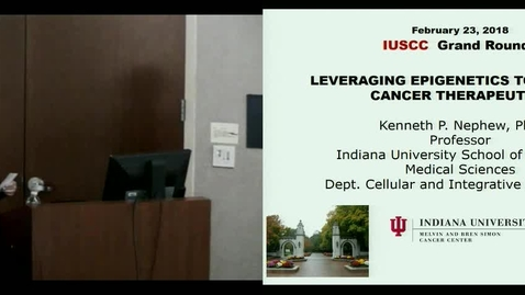 Thumbnail for entry IUSCC  Grand Rounds, February 23, 2018, Kenneth Nephew, PhD
