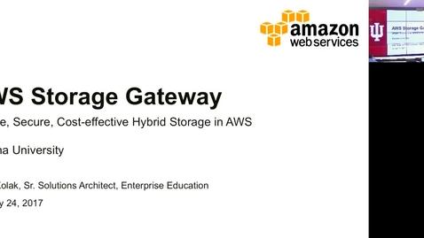 Thumbnail for entry Amazon Storage Gateway January 24 2017