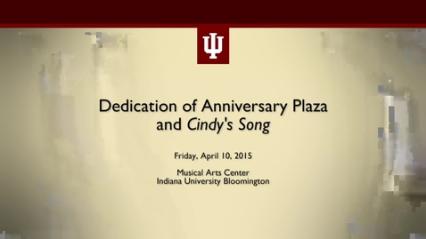 Thumbnail for entry Anniversary Plaza Dedication Ceremony