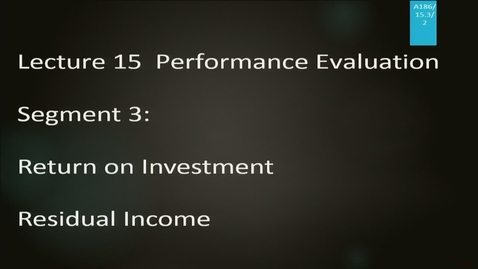 Thumbnail for entry A186 15-3: Performance Evaluation
