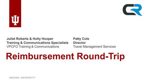 Thumbnail for entry Reimbursement Round-Trip