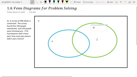 Thumbnail for entry S&P 1.4-pt1: Reasoning with Venn Diagrams