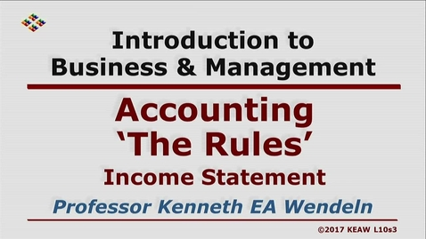 Thumbnail for entry W200 10-3 Income Statement