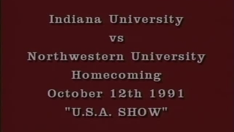 Thumbnail for entry 1991-10-12 vs Northwestern - Halftime (Homecoming)