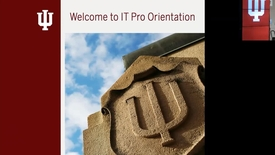 Thumbnail for entry IT Pro Orientation Pt. 1, (of 2) 8 March 2018