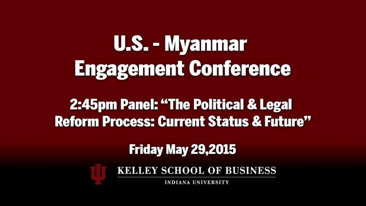 Thumbnail for channel 2015 US Myanmar Engagement Conference