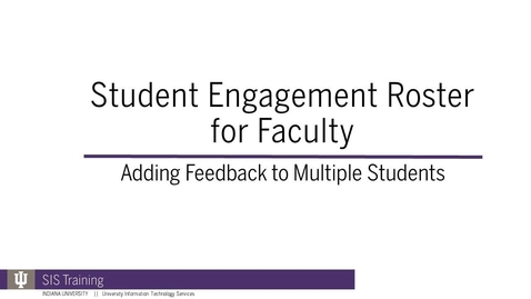 Thumbnail for entry 5. SER Feedback for Multiple Students - Spring 2018