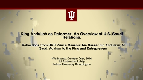 Thumbnail for entry Reflections from HRH Prince Mansour bin Nasser bin Abdulaziz Al Saud