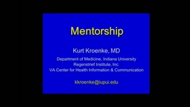 Thumbnail for entry GRAD_G1667 TandT Lecture 5 Mentorship Kroenke 08Sep15 - Clipped by Carrie Hansel