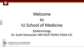 Thumbnail for entry FW Transitions I 8/12/16 Epidemiology Dr. Scott Stienecker 11:59:07
