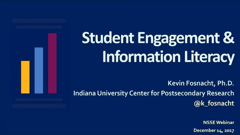 Thumbnail for entry Student Engagement and Information Literacy
