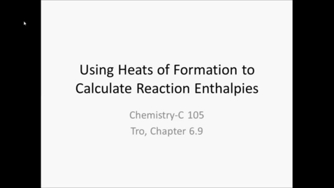 Thumbnail for entry Heats of Formation