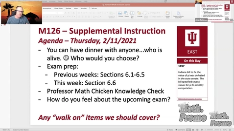 Thumbnail for entry SP21 M126 Week 4 Session 2 - Exam Prep