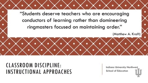 Thumbnail for entry M310_314_Classroom Discipline Instructional Approach