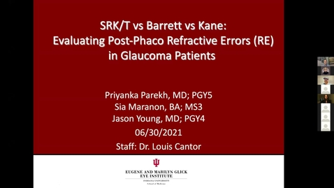 Thumbnail for entry SRK/T vs Barrett vs Kane: Evaluating post-phaco refractive errors in glaucoma patients