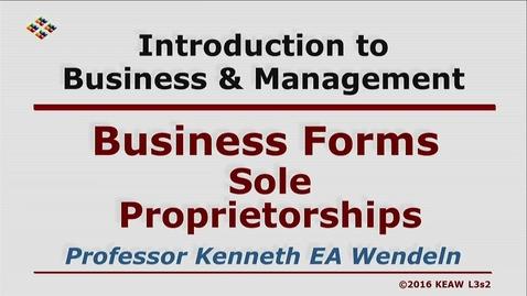 Thumbnail for entry X100 03-2 Sole Propietorships