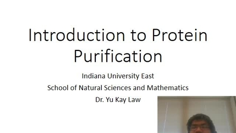 Thumbnail for entry Introduction to Protein Purification