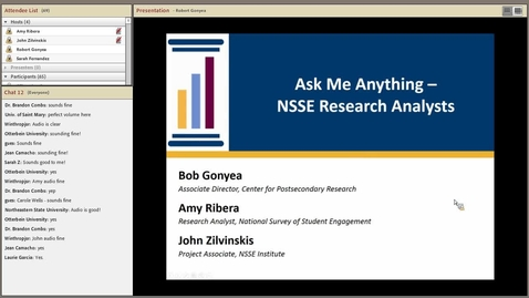 Thumbnail for entry Ask Me Anything -  NSSE Research Analysts
