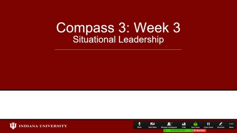 Thumbnail for entry Situational Leadership