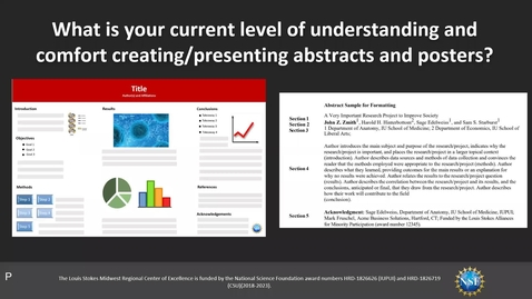Thumbnail for entry Webinar: Research Abstracts & Posters