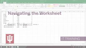 Thumbnail for entry Excel 2016: The Basics - Navigating the Worksheet