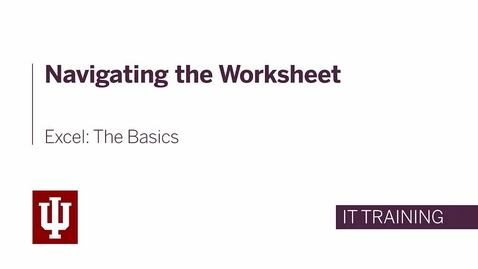 Thumbnail for entry Excel: The Basics - Navigating the Worksheet