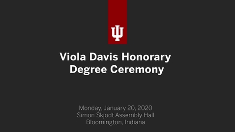 Thumbnail for entry Viola Davis Honorary Degree Ceremony