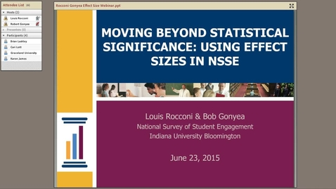 Thumbnail for entry Moving Beyond Statistical Significance: Using Effect Sizes in NSSE