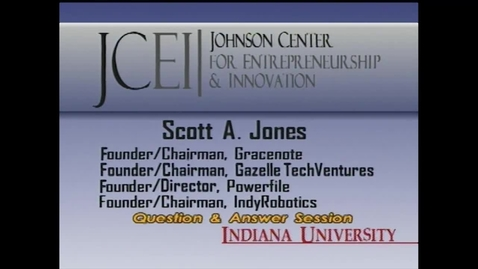 Thumbnail for entry Q&A with Scott Jones: Distinguished Entrepreneur-in-Residence