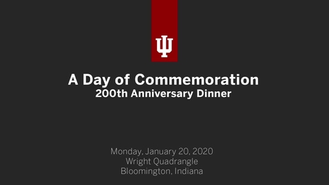 Thumbnail for entry A Day of Commemoration  - 200th Anniversary Dinner