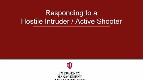 Thumbnail for entry Hostile Intruder - 2016 Aug 16 09:00:42