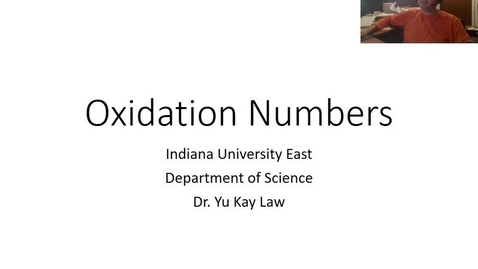 Thumbnail for entry Oxidation Numbers