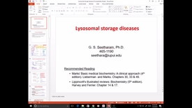 Thumbnail for entry EVV, MCT, 11/08/2016: Lysosomal Storage diseases - Ram