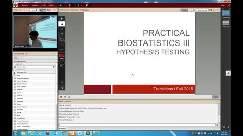 Thumbnail for entry WL - Transitions I Prac Biostats III 160816 Kreisle
