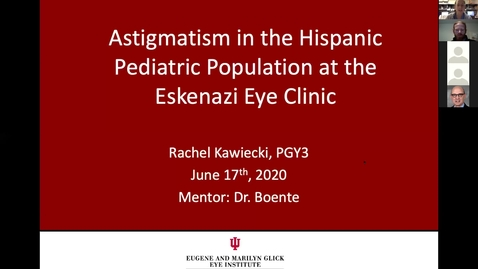 Thumbnail for entry Astigmatism in the Hispanic pediatric population in the Eskenazi Eye Clinic