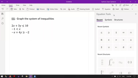 Thumbnail for entry Alg 4.4: A System of Three Inequalities (pt1)
