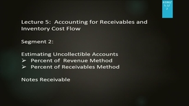 Thumbnail for entry A186 05-2 Accounting for Receivables & Inventory Cost Flow