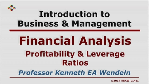 Thumbnail for entry X100 14-1 Profitability & Leverage Ratios