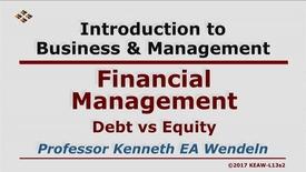 Thumbnail for entry X100 13-2 Debt vs Equity