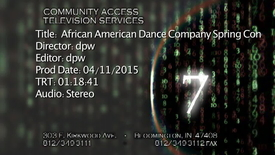 Thumbnail for entry African American Dance Company Spring Concert 2015