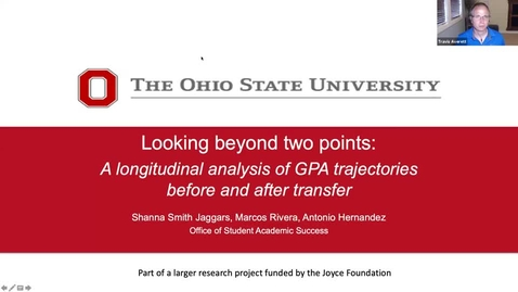 Thumbnail for entry Looking Beyond Two Points: A Longitudinal Analysis of GPA Trajectories Before and After Transfer