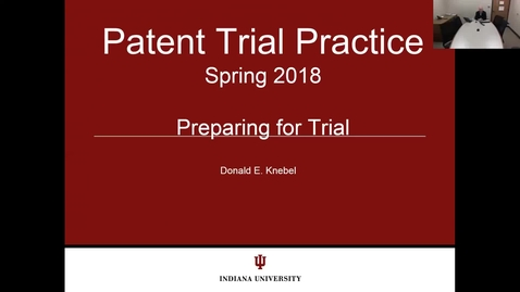 Thumbnail for entry 2018.03.27.0730 - Patent Trial Practice Lecture