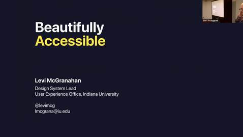 Thumbnail for entry Statewide IT 2018 - Beautifully accessible