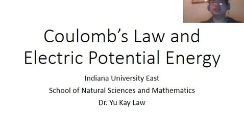 Thumbnail for entry Electrostatics