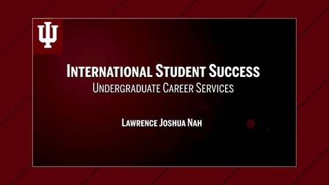 Thumbnail for entry International Student Success - Kelley Alumnus Lawrence Nah
