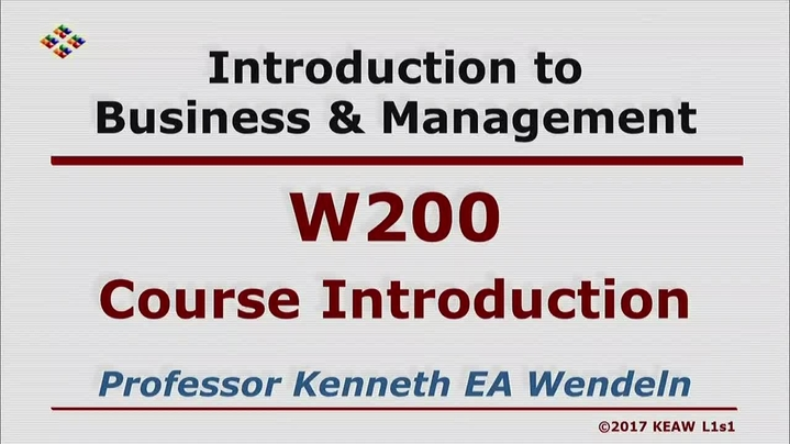 Thumbnail for channel W200 Introduction to Business & Management