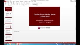 Thumbnail for entry WL - FCP - 170417 - Keller - Conducting Mental Status Examination