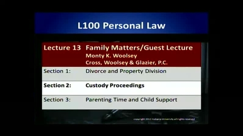 Thumbnail for entry L100 13-2 Custody Proceedings